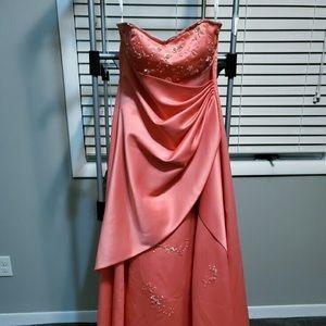 Debbie formal dress in coral pink